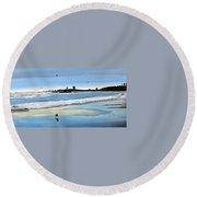 Bull Beach 2 Round Beach Towel by Marilyn McNish