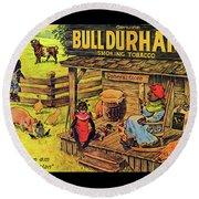 Bull Durham My It Shure Am Sweet Tastan Round Beach Towel