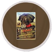 Bull Durham Smoking Tobacco Round Beach Towel
