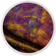 Round Beach Towel featuring the photograph Bull Rust by Paul Wear