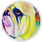Bulldog - Bully Round Beach Towel