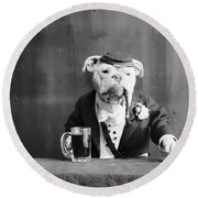 Bulldog, C1905 Round Beach Towel