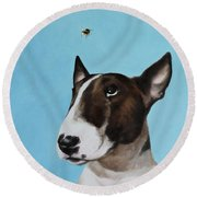 Bully And Bee Round Beach Towel