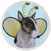 Bully Bee Round Beach Towel