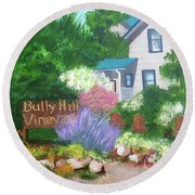Bully Hill Vineyard Round Beach Towel