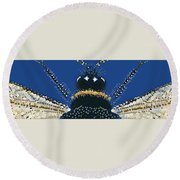 Bumble Bee Detail Round Beach Towel