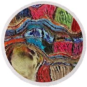Bumps In The Road Round Beach Towel by Kathie Chicoine