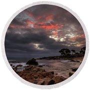 Bunbker Bay Dawn Round Beach Towel