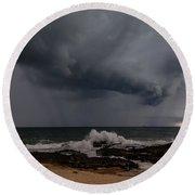 Bunbury Storm Clouds Round Beach Towel