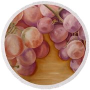 Bunch Of Grapes Round Beach Towel