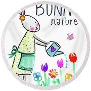 Bunny Nature Round Beach Towel