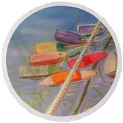 Buoys  Round Beach Towel