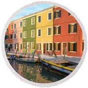 Round Beach Towel featuring the photograph Burano Italy 1 by Rebecca Margraf