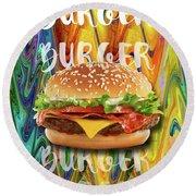 Burgers Round Beach Towel