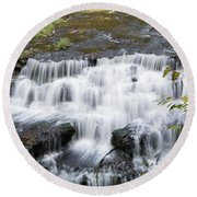 Burgess Falls Middle Round Beach Towel
