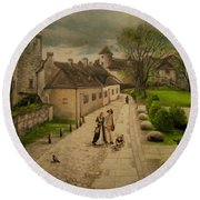 Burghausen Fortress Round Beach Towel