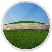 Burial Mound Round Beach Towel