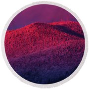 Burke Alpenglow Round Beach Towel