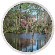 Burke Hall Cypress Lake Round Beach Towel