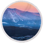 Burke To Moosilauke Round Beach Towel