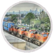 Burlington Northern Santa Fe # 6614 Round Beach Towel
