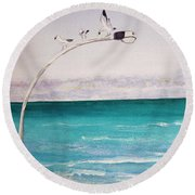 Burns Beach Round Beach Towel