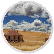 Round Beach Towel featuring the photograph Burra by Tim Nichols