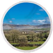 Burren Panorama Round Beach Towel
