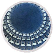 Burst Of Blue View Of A Dome Round Beach Towel