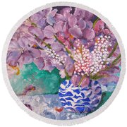 Burst Of Colour Round Beach Towel
