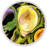 Three Sisters Round Beach Towel by Kathie Chicoine