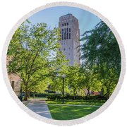 Burton Memorial Tower 1 University Of Michigan  Round Beach Towel