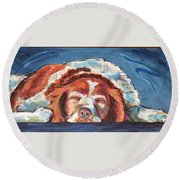Bushed Round Beach Towel