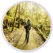 Round Beach Towel featuring the photograph Bushwalking Tasmania by Jorgo Photography - Wall Art Gallery