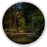 Busiek State Forest Round Beach Towel