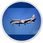 Business Express, Delta Connection, N353be, Bex Saab 340b Round Beach Towel