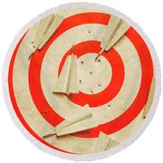 Business Target Practice Round Beach Towel