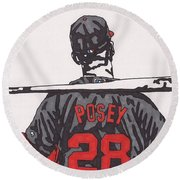Buster Posey Round Beach Towel
