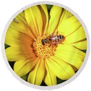 Busy Bee Round Beach Towel