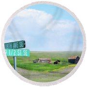 Busy Intersection Round Beach Towel