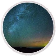 Round Beach Towel featuring the photograph Busy Night by Fiskr Larsen
