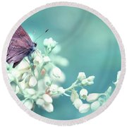 Buterfly Dreamin' Round Beach Towel