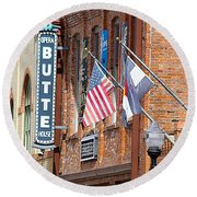 Butte Opera House In Colorado Round Beach Towel