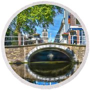 Butter Bridge Delft Round Beach Towel