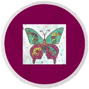 Butterflies Are Free Round Beach Towel by Susie WEBER