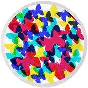 Round Beach Towel featuring the digital art Butterflies by Bee-Bee Deigner