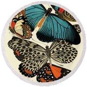 Butterflies, Plate-11 Round Beach Towel