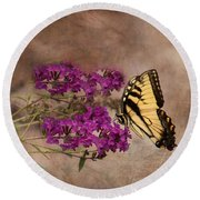 Butterfly , Eastern Tiger Swallowtail Round Beach Towel