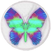 Butterfly Poise #024 Round Beach Towel by Barbara Tristan