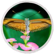 Butterfly #1983 Round Beach Towel